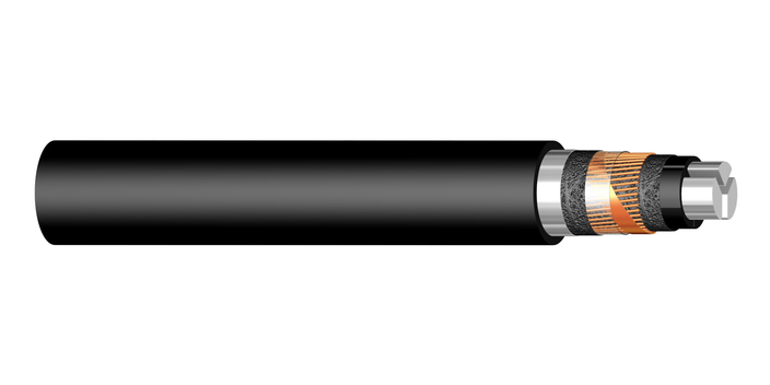 Image of 3-core PEX-S-AL 12 kV cable
