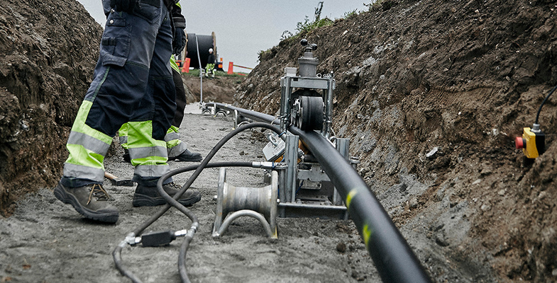 High voltage cable onshore installation in Trelleborg