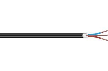 Image of PR sort, limt skjerm cable
