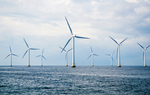 Offshore wind turbines in an off-shore wind park