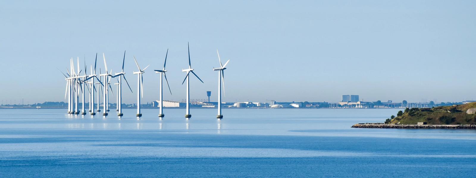 Offshore windmill farm Copenhagen