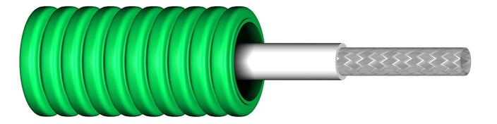 Image of Flexrör med fördragen RG6T