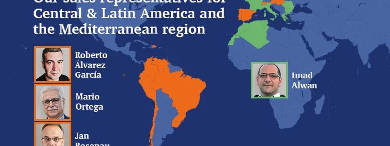 Image of sales representatives central, latin america, mediterranean region