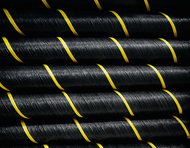 Layers of high voltage offshore cable