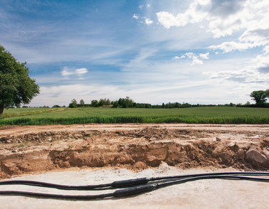 HVDC cable system leave no visible footprint in the landscape after installation underground