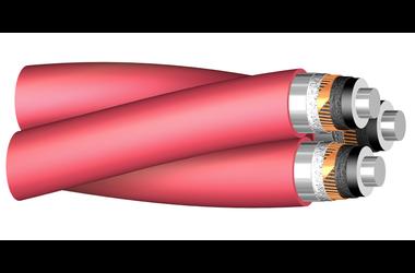 Image of 11 kV Triplex XLPE-AL-RE-FB cable
