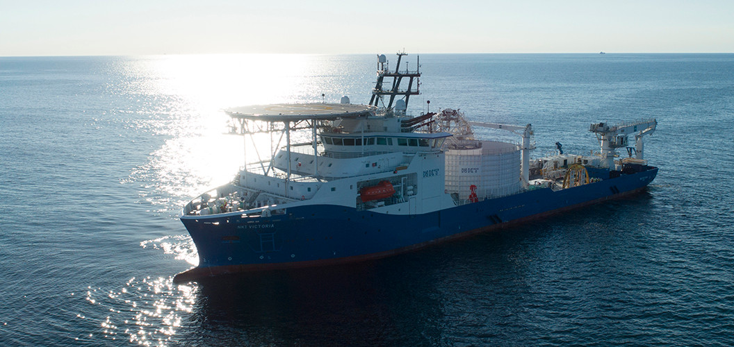Cable laying vessel NKT Victoria at sea