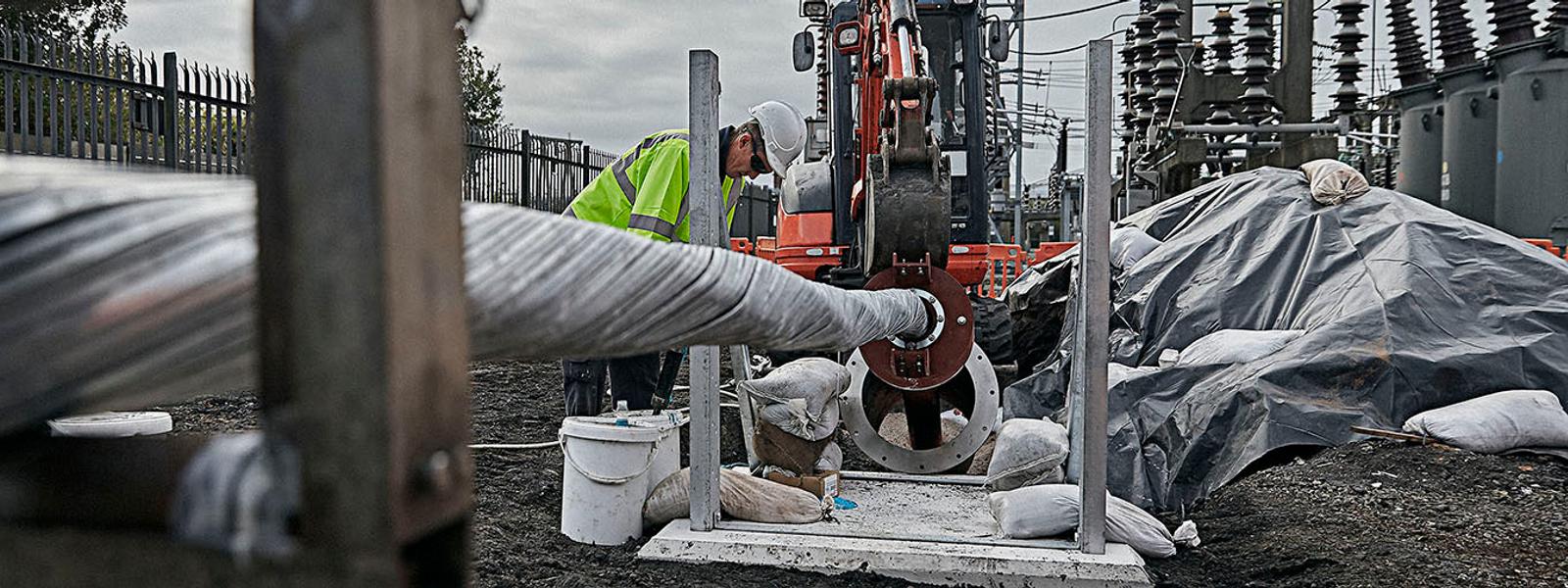 City calbe installation site in Liverpool