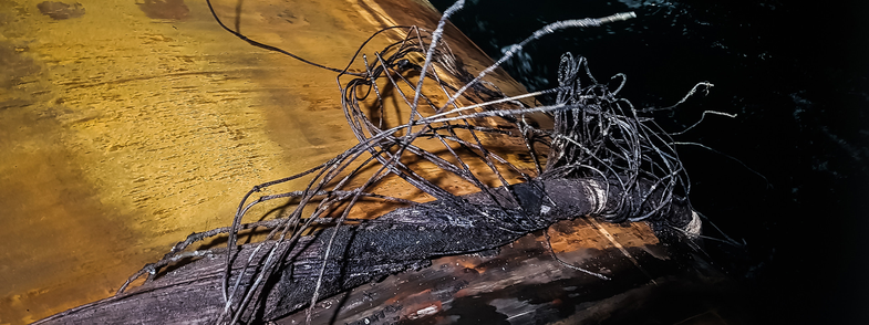 Damaged submarine cable at Skagerrak