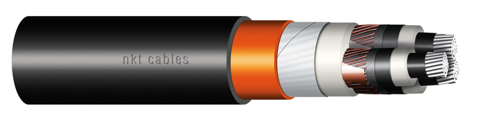 Image of XLPE Al three core cable